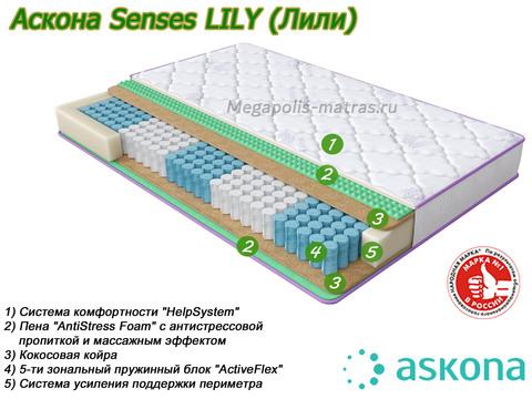 Матрас Askona Senses Lily со слоями в Megapolis-matras.ru