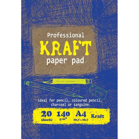 Папка для рисования и эскизов А4,20л,бл.крафт 140г,02656
