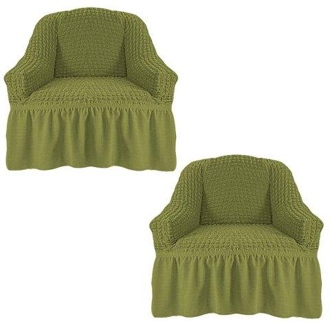 Чехол на два кресла, олива