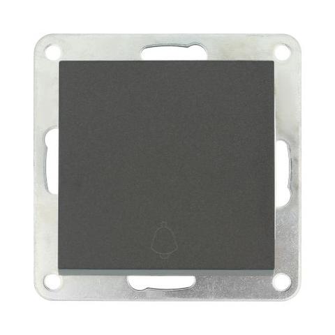 Выключатель-кнопка одноклавишный (схема 1Т) 10 A, 250 В~. Цвет Чёрный бархат. LK Studio LK80 (ЛК Студио ЛК80). 840508