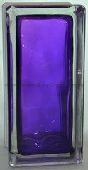 Стеклоблок половинка фиолетовый окрашенный изнутри Vitrablok 19х9х8см.
