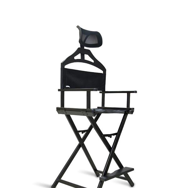 Разборный стул визажиста из алюминия с подголовником