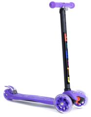 Трехколесный самокат для детей и подростков, материал - металл/пластик BIBITU CAVY SKL-07, фиолетовый