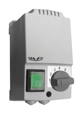 Регулятор скорости Shuft SRE-E-10,0-T однофазный пятиступенчатый с термозащитой (в корпусе)