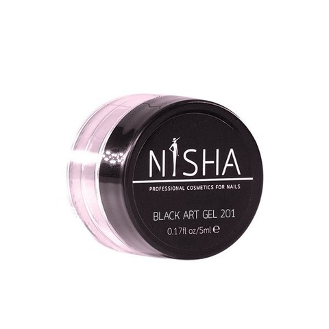 Гель-краска с липким слоем Nisha Black Art Gel 5ml