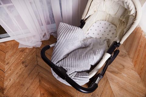 Постельное белье для коляски ПЛЮС Серый