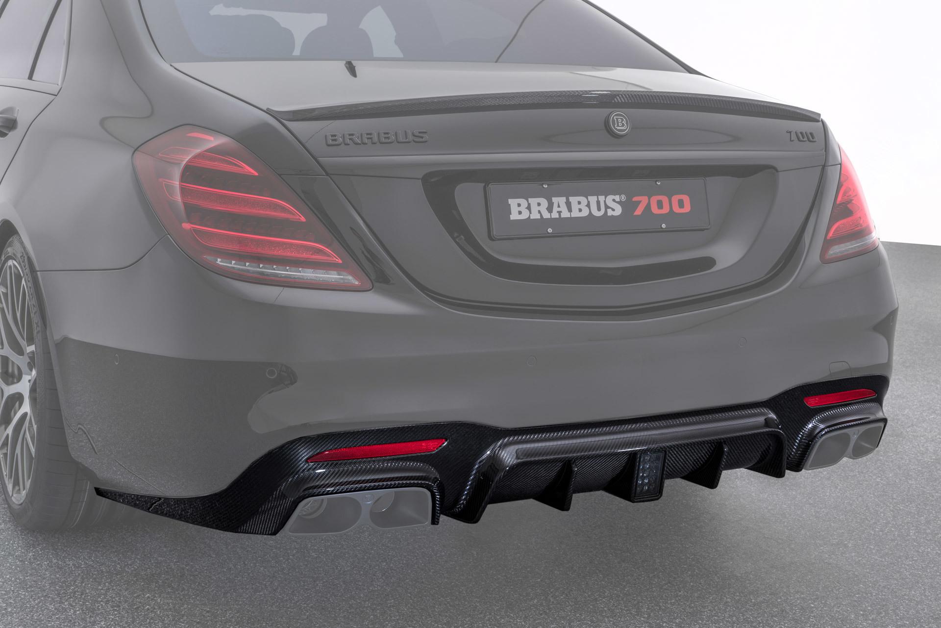 Карбоновый диффузор заднего бампера  для Mercedes S63 AMG W222