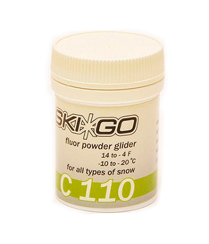Фтористый порошок-ускоритель Skigo C110 Powder (для всех типов снега) (-10°С -20°С) 30 гр