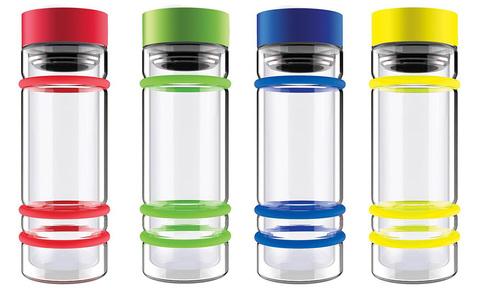 Бутылка Asobu Bumper (0,4 литра), зеленая