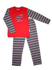 Пижама 038 красная в полоску