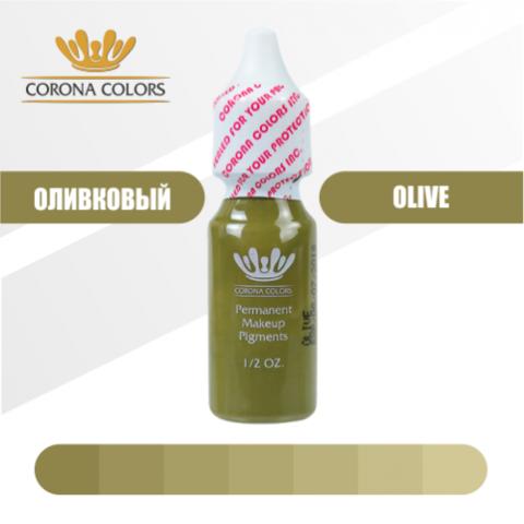Пигмент Corona Colors Оливковый (Olive) 15 мл