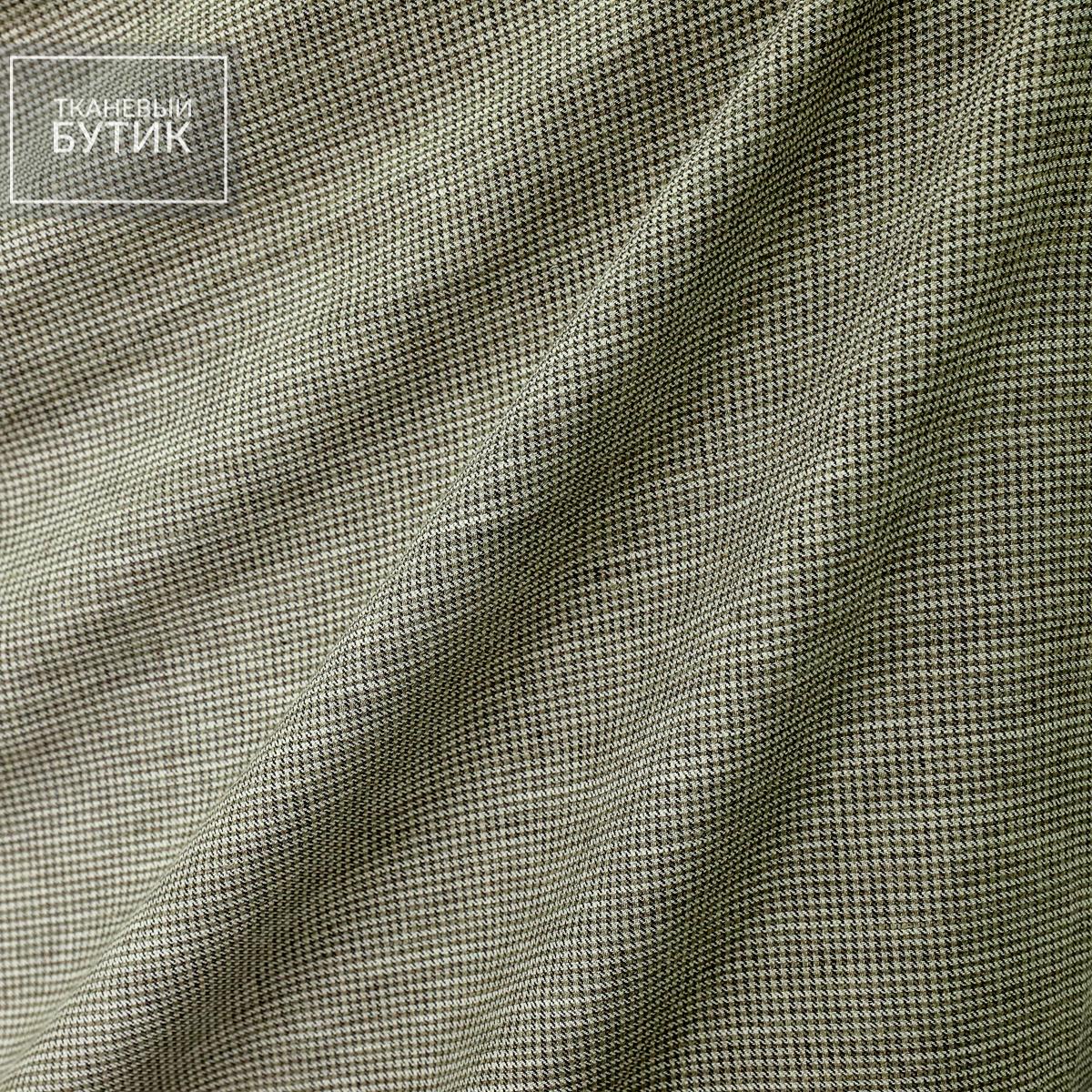 Пестрый серо-коричневый лен с шелком