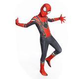 "Новый костюм Человека-паука ""Iron Spiderman"" из эластичного спандекса."