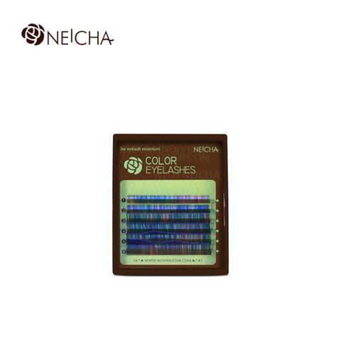 Ресницы NEICHA нейша колорированные 6 линий Blue