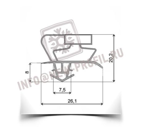 Уплотнитель для холодильника General Frost Размер 108*53 см(профиль 017)по пазу (АНАЛОГ)