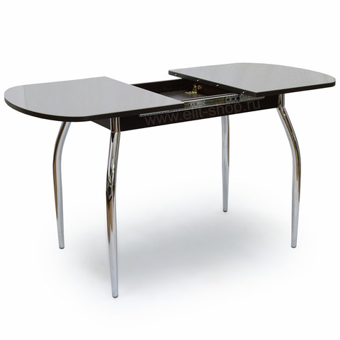Стол ПОРТОФИНО-1 Капучино / рис. 0 / подстолье венге / опора №1 хром / 110(160)х70см