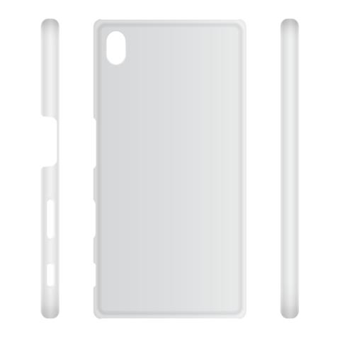 Пластиковая накладка для Xperia Z5 Premium серого цвета