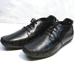 Мокасины мужские со шнурками Ikoc 112-1Black