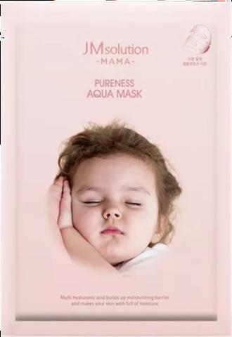 JMsolution Тканевая гипоаллергенная увлажняющая маска для будущих  MAMA  PURENESS AQUA MASK 30 мл.
