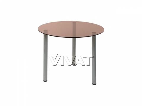 Стол обеденный круглый Oss Бронза