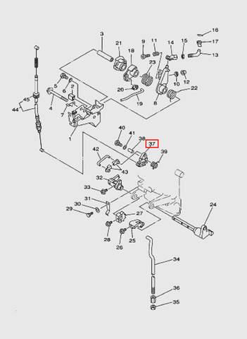 Ручка стартера  для лодочного мотора T15, OTH 9,9 SEA-PRO (12-37)