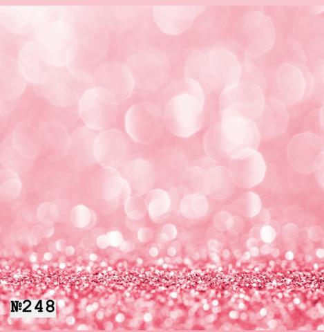 Фотофон виниловый «Розовый боке» №248