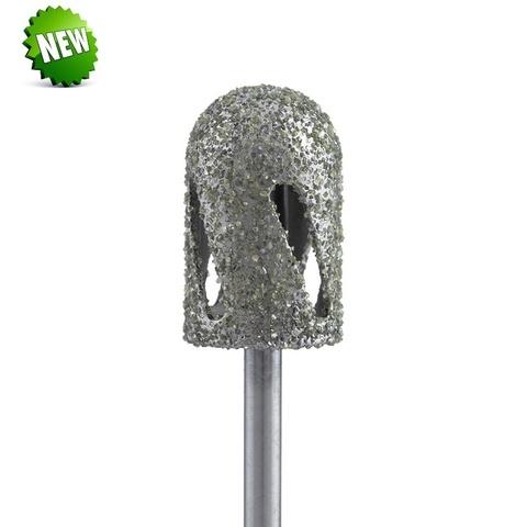 Фреза алмазная для педикюра закругленный цилиндр супер грубая  - Турбо