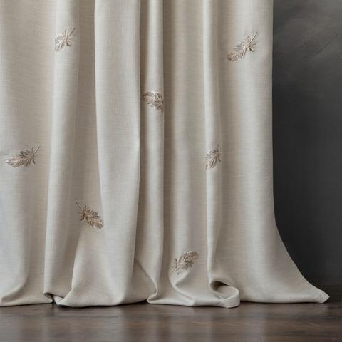 Комплект штор с вышивкой Пиаццо бежевый