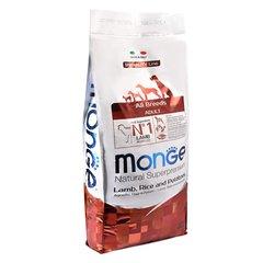 Monge Natural Superpremium All breeds adult полноценный корм для взрослых собак всех пород с ягненком, рисом и картофелем 12 кг