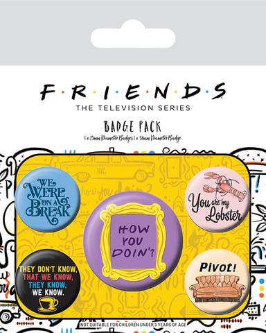 Значки Friends (Quotes) 5 шт.