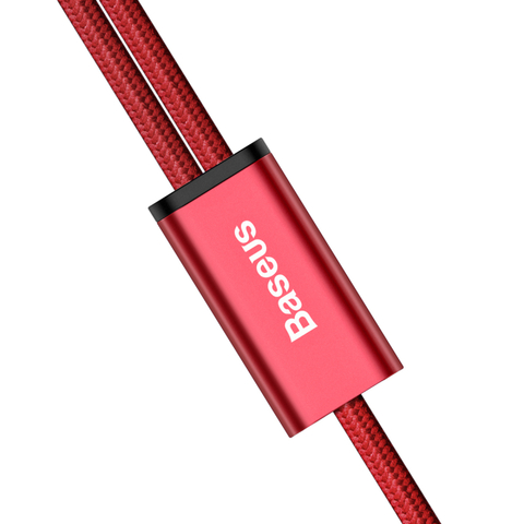 Кабель Baseus Rapid Series 2-in-1 Cable Micro+Lightning 3A 1.2M Red