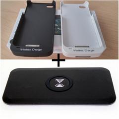Комплект для apple iphone 4/4S: беспроводная зарядка Qi + чехол Qi