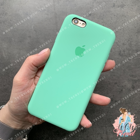 Чехол iPhone 6/6s Silicone Case /spearmint/ яркая мята 1:1