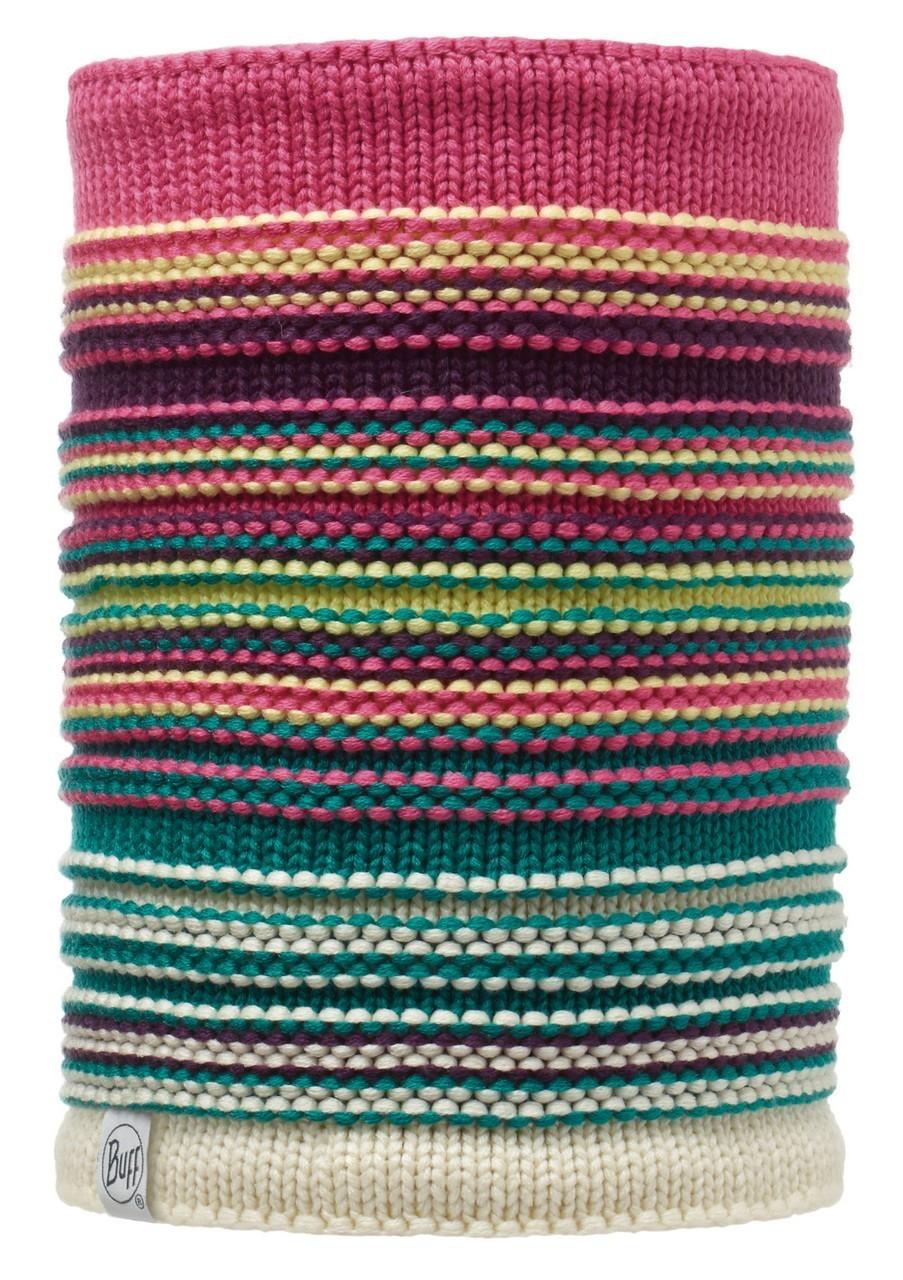Вязаные шарфы Вязаный шарф-труба с флисовой подкладкой Buff Neper Magenta 113347.535.10.00.jpg