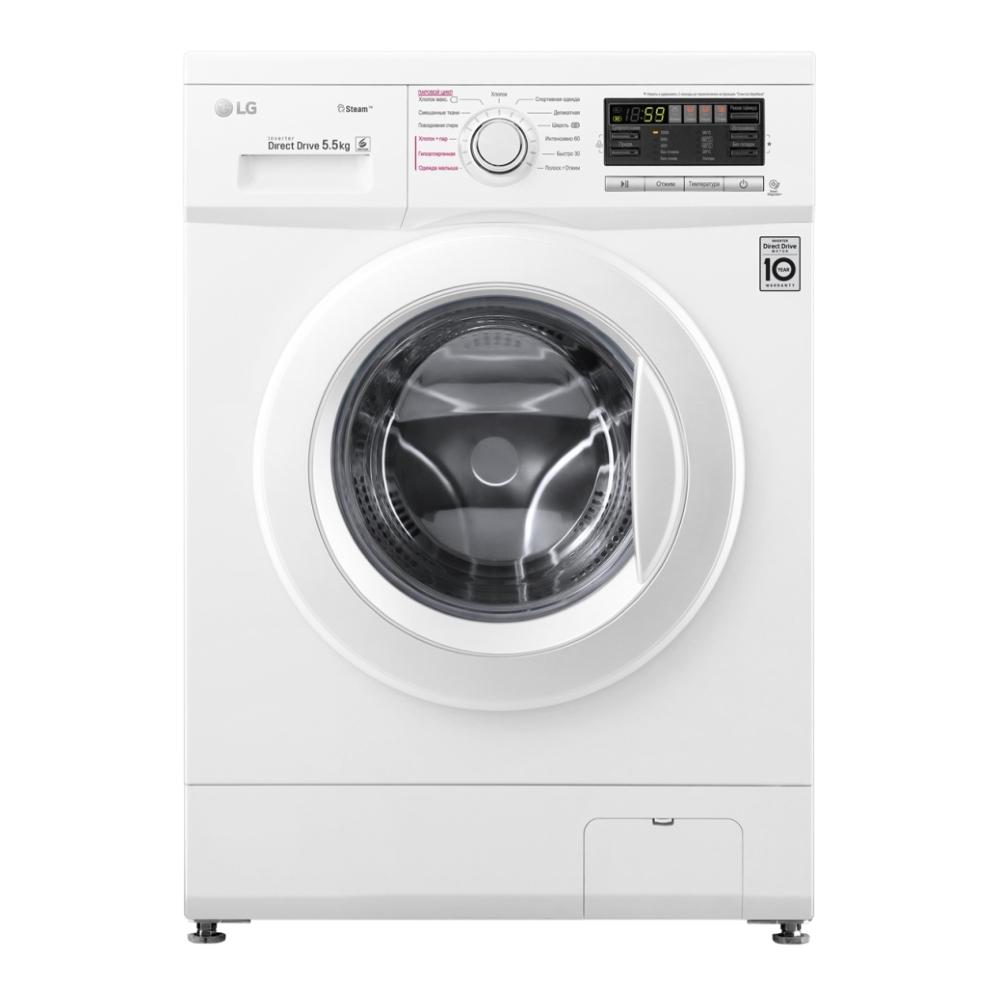 Узкая стиральная машина LG с функцией пара Steam F1096MDS0 фото