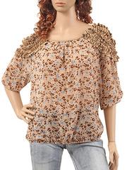 3282-1 блузка женская, бежевая