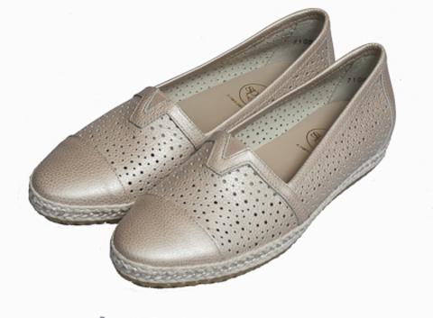 71004 napa metal туфли женские, кожа, пудра SPIFFY