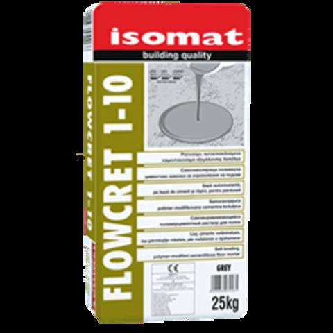 Isomat Flowcret 1-10/Изомат Флоукрет 1-10 самовыравнивающийся полимерцементный раствор