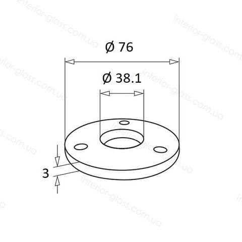 Фланец для стойки D=38,1 мм ST-433