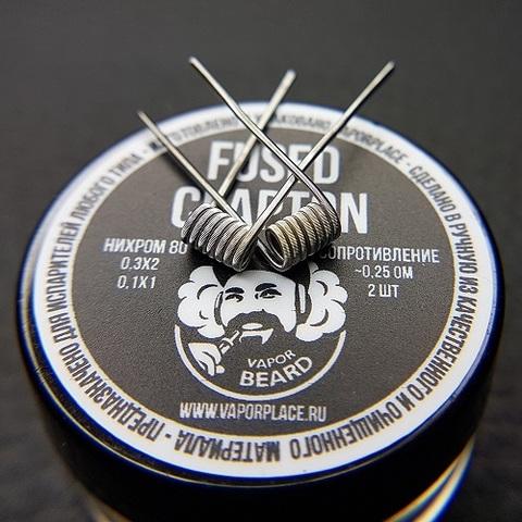 Fused Clapton Vapor Beard (NiCr 0,3х2 NiCr 0,1) 2,5мм 0,25 Ом
