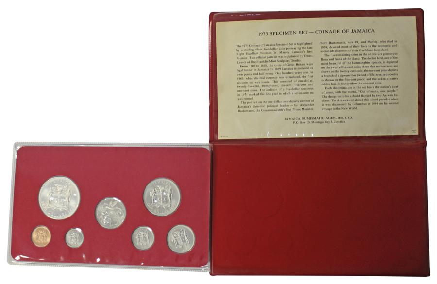 Набор монет Ямайки 1973  г. UNC в родной упаковке
