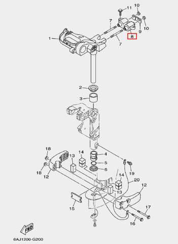 Демпфер верхний для лодочного мотора F20 Sea-PRO (20-8)
