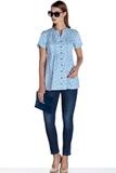 Блузка для беременных 08478 синий