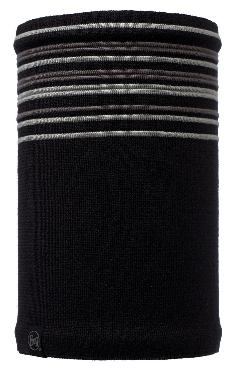 Вязаные шарфы Вязаный шарф-труба с флисовой подкладкой Buff Stowe Black 113348.999.10.00.jpg