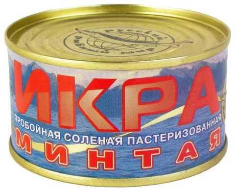 Икра минтая 130 г. Русский рыбный мир
