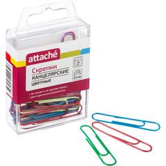 Скрепки Attache цветные овальные 50 мм (40 штук в упаковке)
