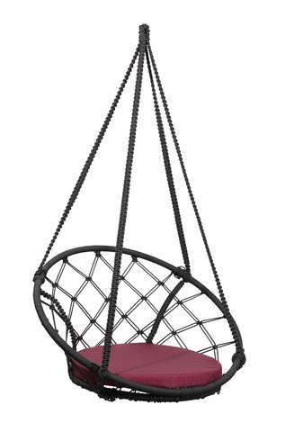 Складное кресло-кокон AOSTA + бордовая подушка