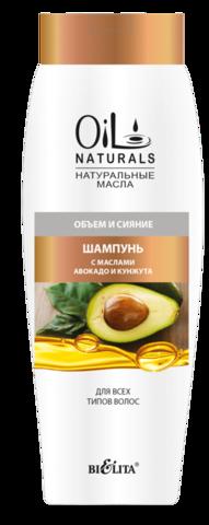 Белита Oil Naturals Шампунь с маслами авокадо и кунжута Объем и Сияние 430мл