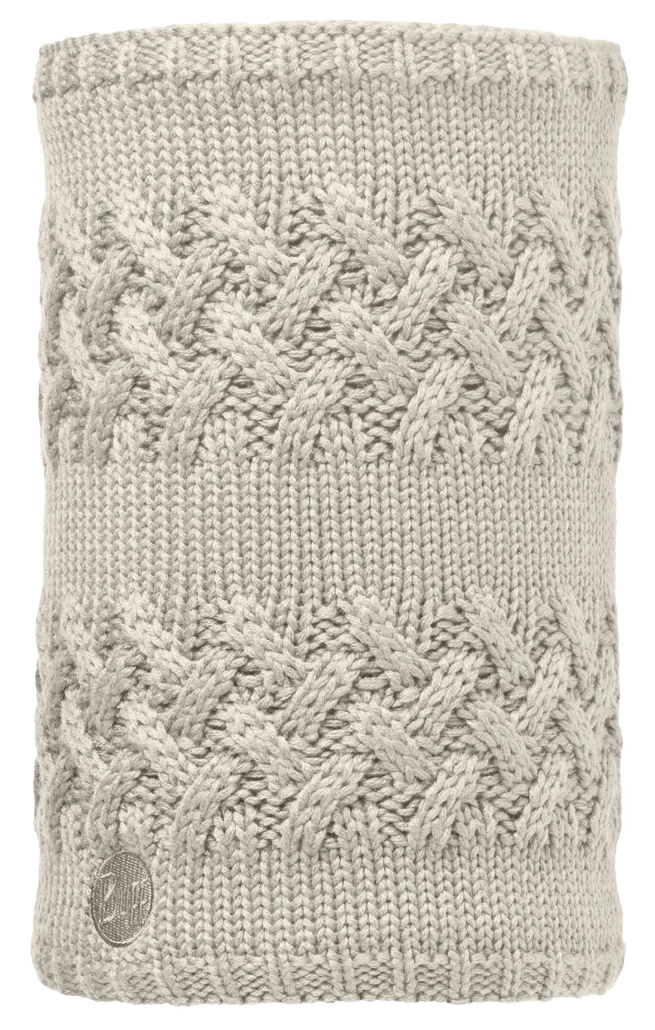 Вязаные шарфы Вязаный шарф-труба с флисовой подкладкой Buff Savva Cream 113349.006.10.00.jpg