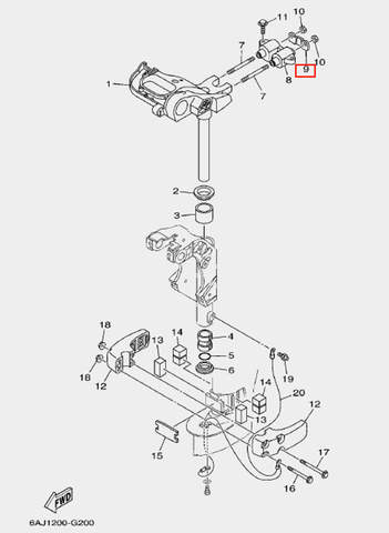 Пластина демпфера для лодочного мотора F20 Sea-PRO (20-9)